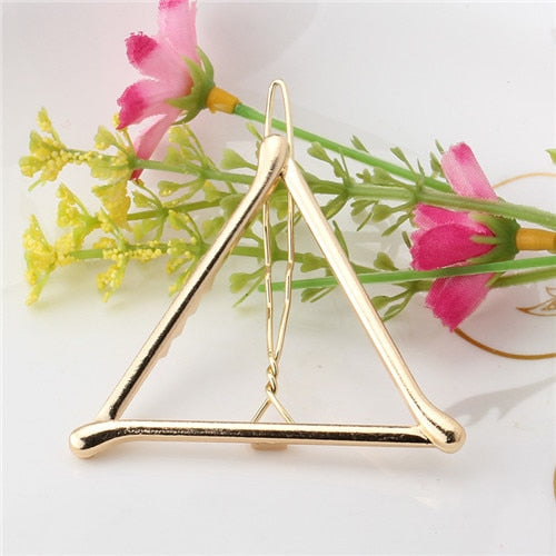 Girls Triangle Moon Hair Clips