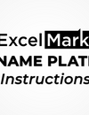 DIY Nameplate Kit Instructions