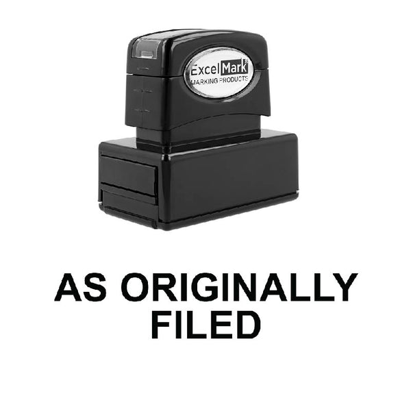 As Originally Filed Stamp