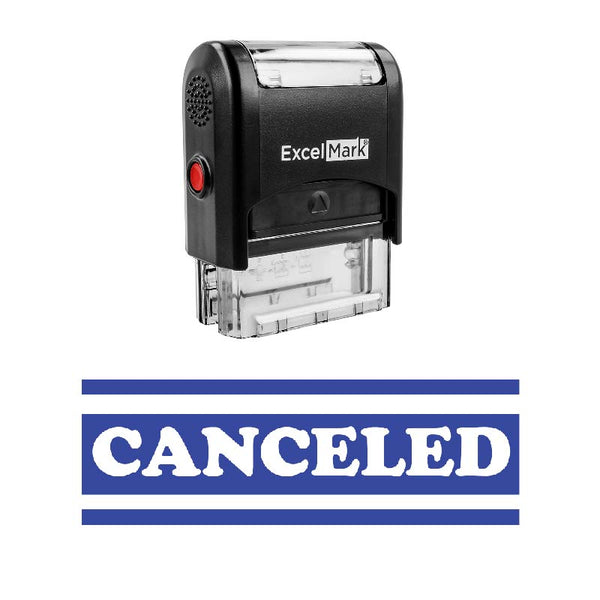 Bold Double Line CANCELED Stamp