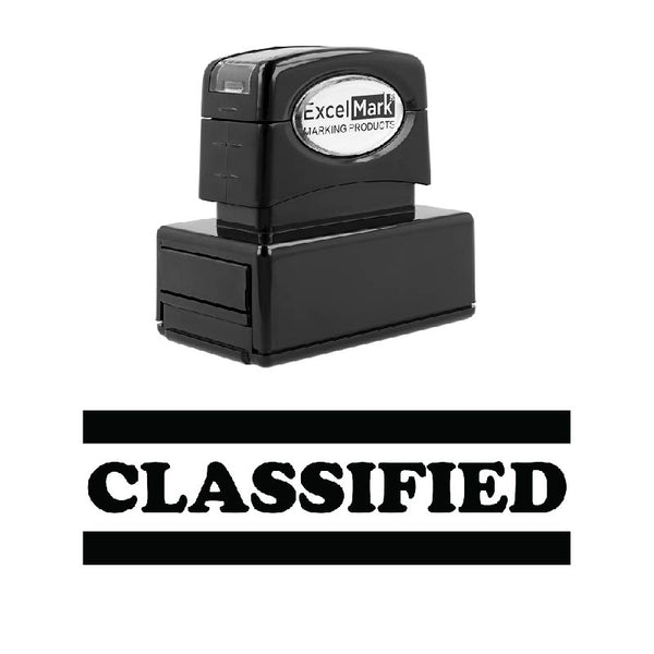Double Line CLASSIFIED Stamp