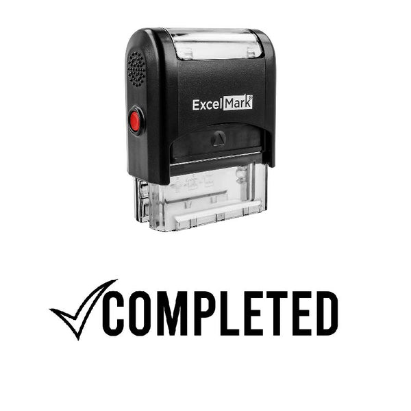 Checkmark COMPLETED Stamp