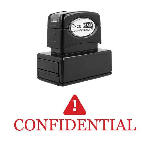 Warning Symbol CONFIDENTIAL Stamp