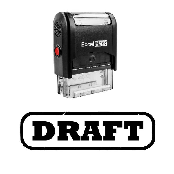 Rounded Box DRAFT Stamp