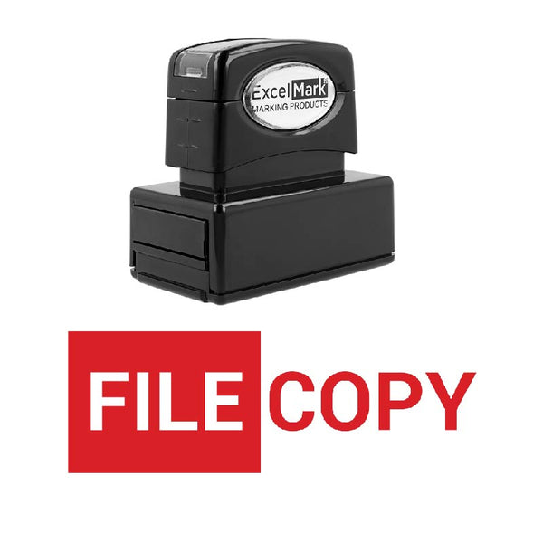 Block FILE COPY Stamp