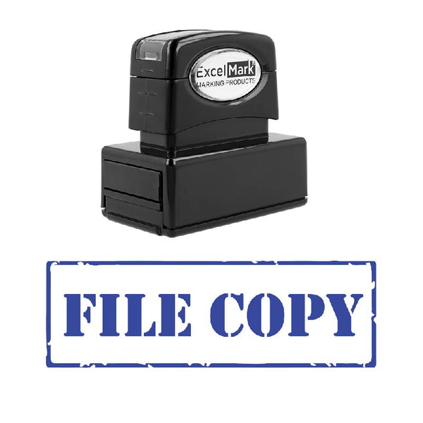 Stencil FILE COPY Stamp