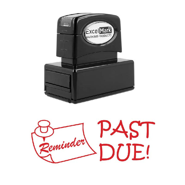 Pin PAST DUE! Stamp