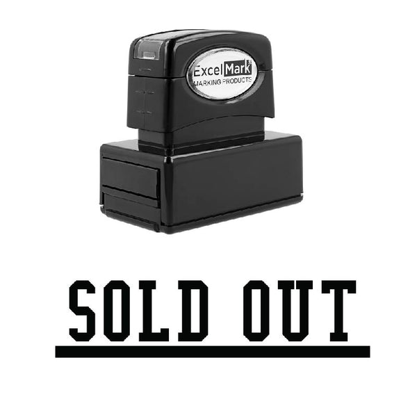 Underlined SOLD OUT Stamp