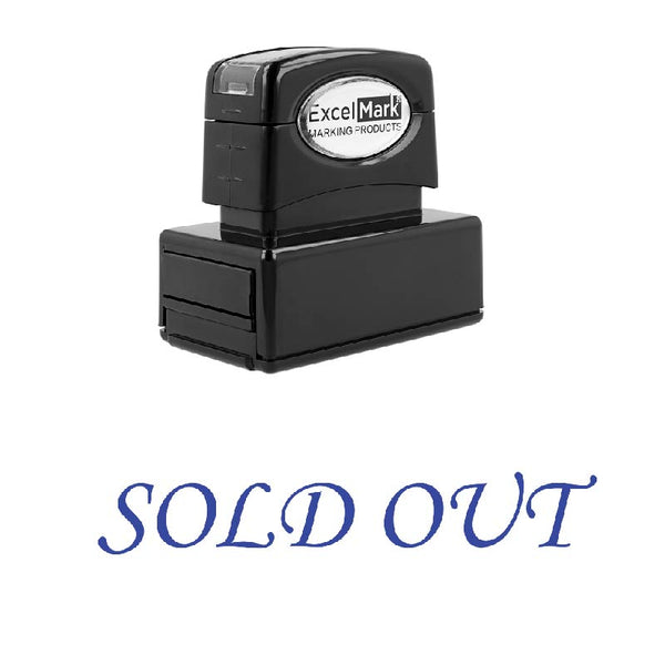 Script SOLD OUT Stamp