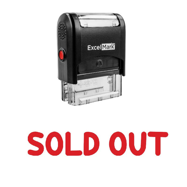Rounded SOLD OUT Stamp