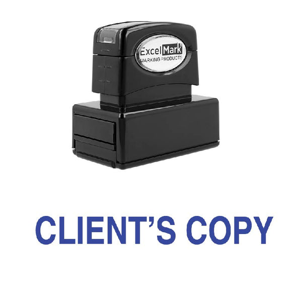 CLIENT'S COPY Stamp