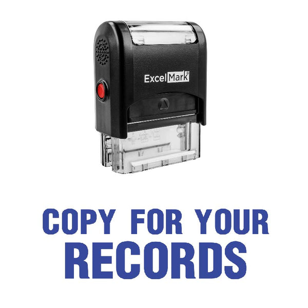 Bold COPY FOR YOUR RECORDS Stamp