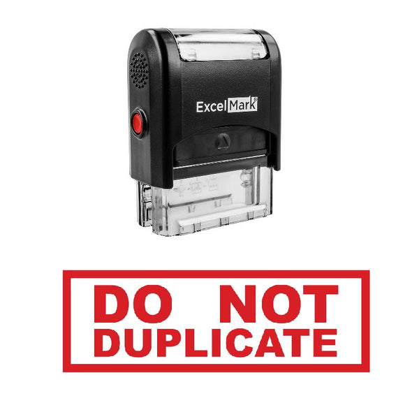 Box DO NOT DUPLICATE Stamp