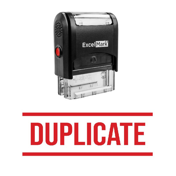Double Line DUPLICATE Stamp