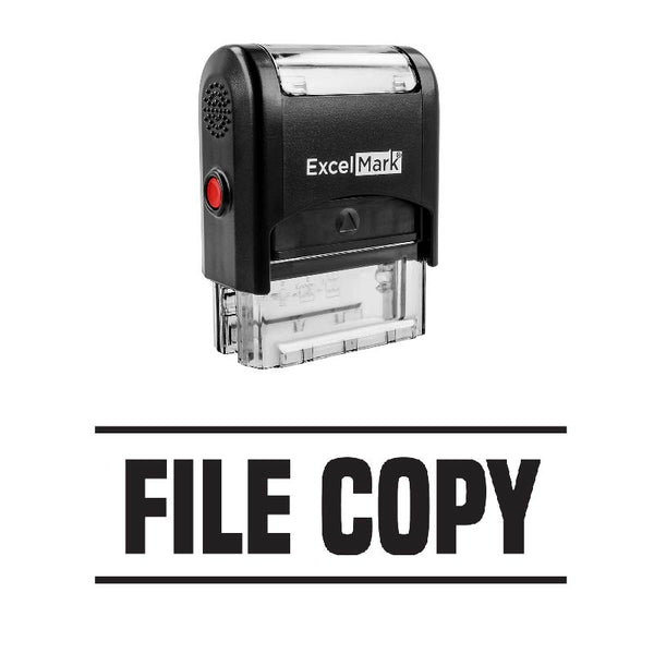 Double Line FILE COPY Stamp