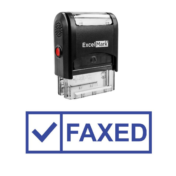 Check Box FAXED Stamp