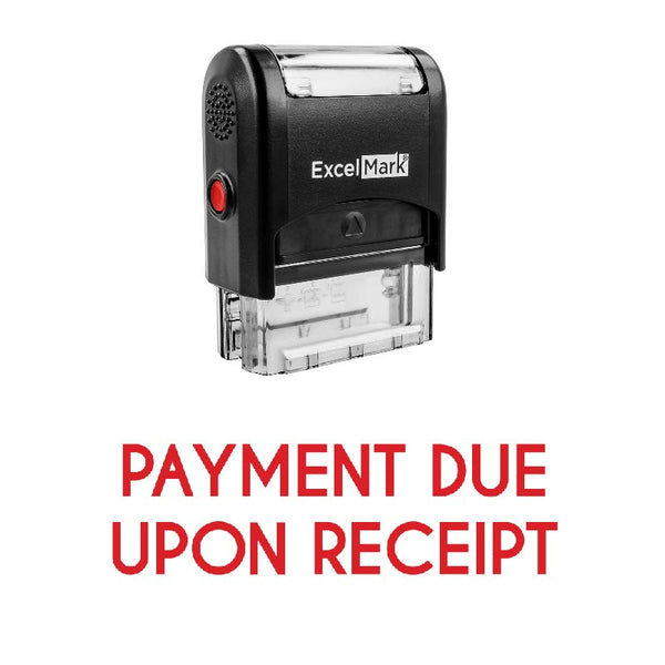 PAYMENT DUE UPON RECEIPT Stamp