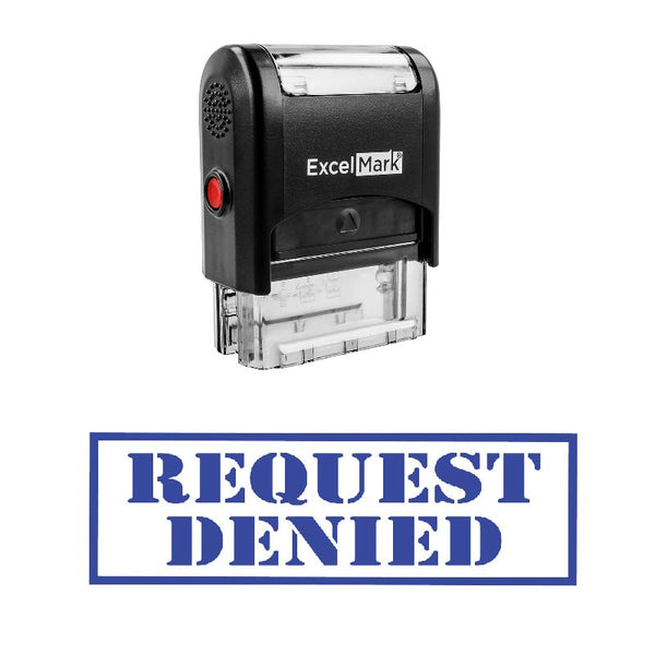 Box REQUEST DENIED Stamp