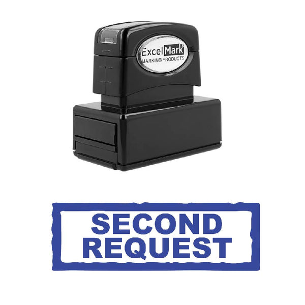 Box SECOND REQUEST Stamp