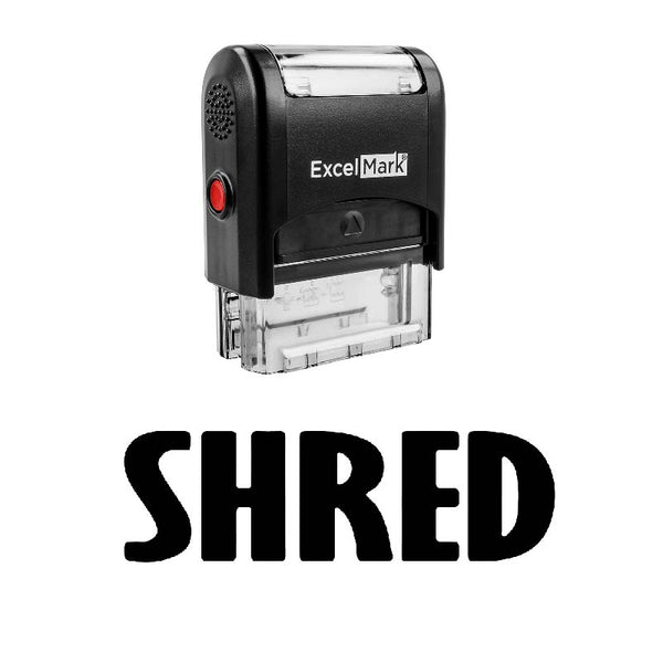 Tall Bold SHRED Stamp