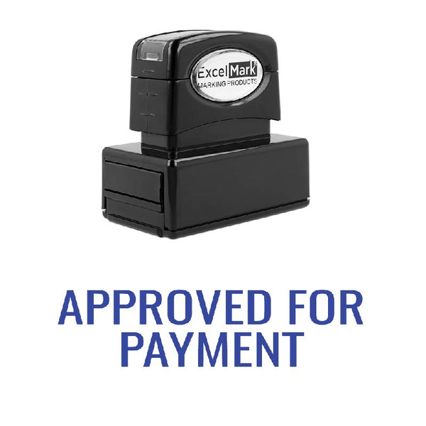 Arial APPROVED FOR PAYMENT Stamp