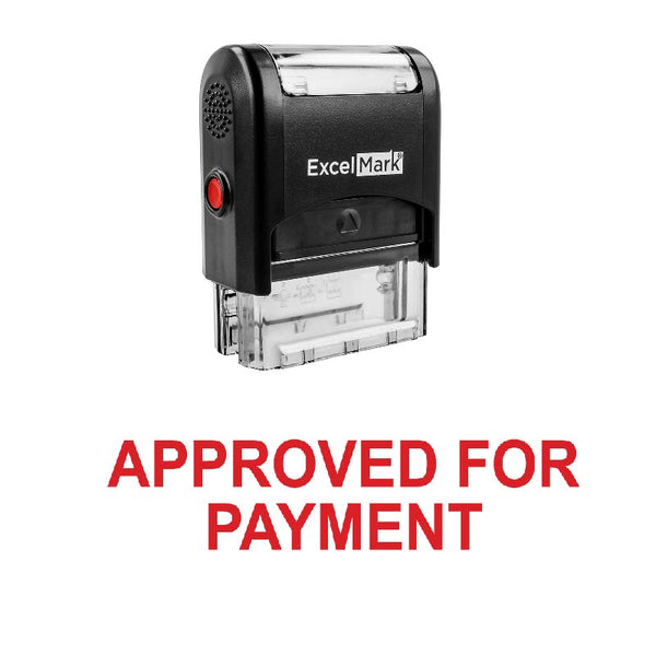 Bold APPROVED FOR PAYMENT Stamp