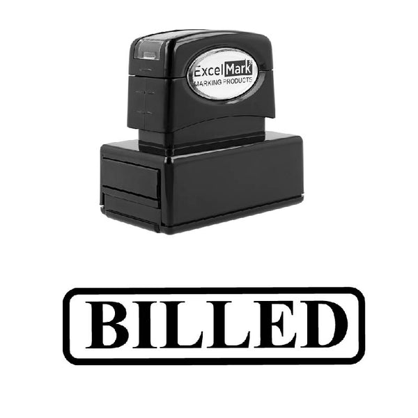 Rounded Box BILLED Stamp