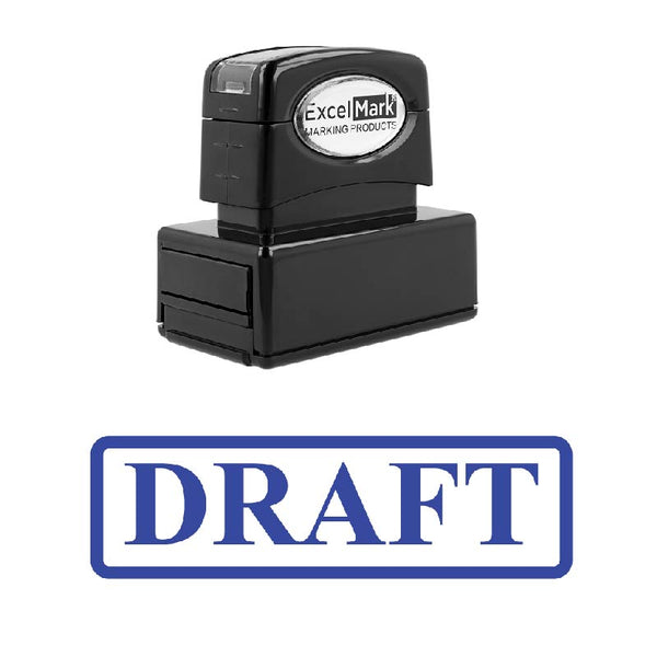 Box DRAFT Stamp