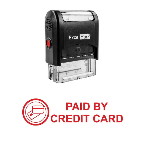 PAID BY CREDIT CARD Stamp