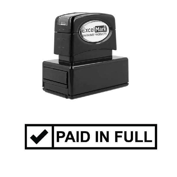 Check Box PAID IN FULL Stamp