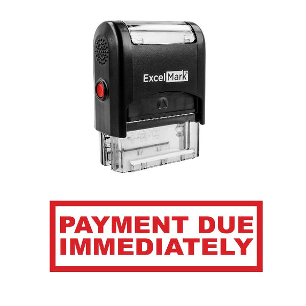 PAYMENT DUE IMMEDIATELY Stamp
