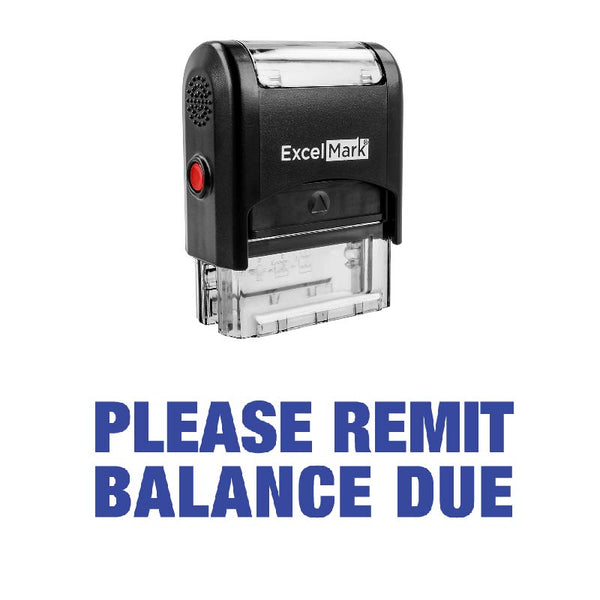PLEASE REMIT BALANCE DUE Stamp