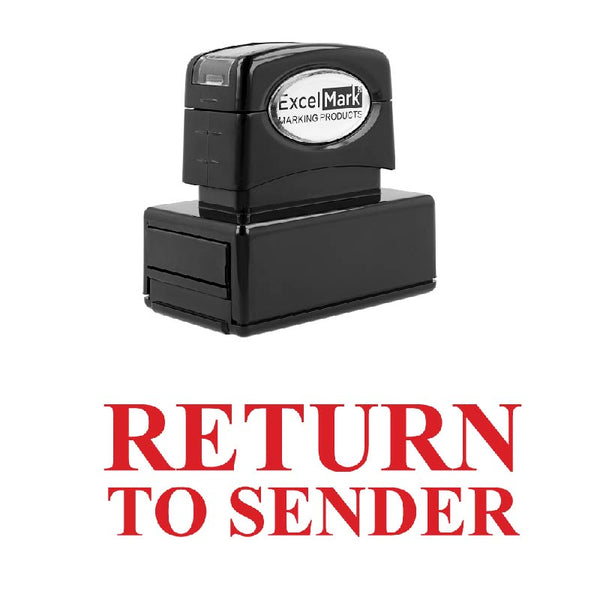 Center RETURN TO SENDER Stamp