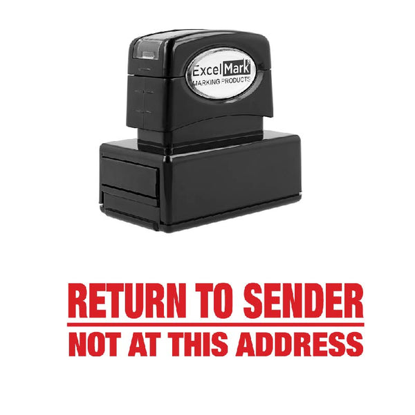 Bold Line RETURN TO SENDER NOT ADDRESS Stamp