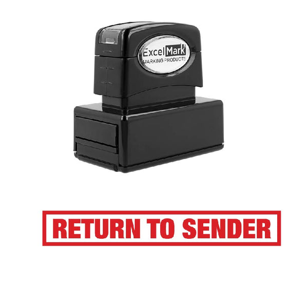Box RETURN TO SENDER Stamp