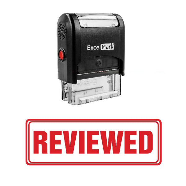 Box REVIEWED Stamp