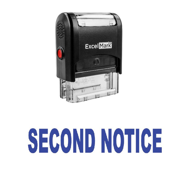 Bold SECOND NOTICE Stamp