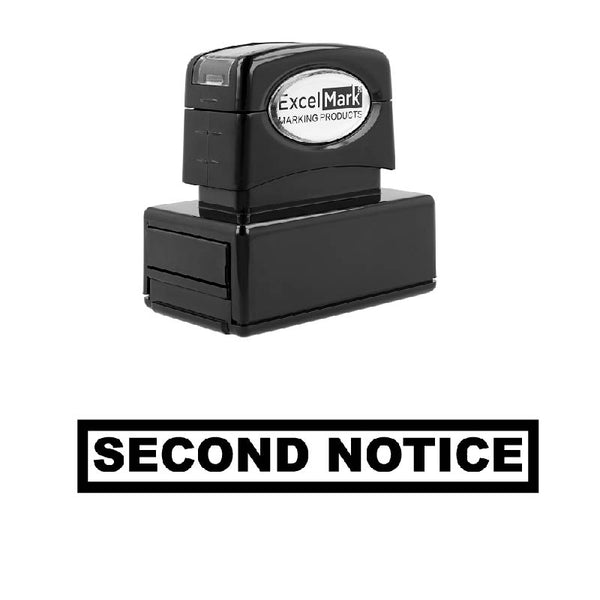 Box SECOND NOTICE Stamp