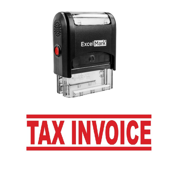 Bold Double Line TAX INVOICE Stamp