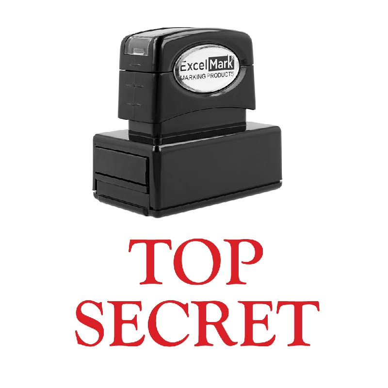 TOP Secret Self Inking Rubber Stamp ExcelMark A1539 Red Ink
