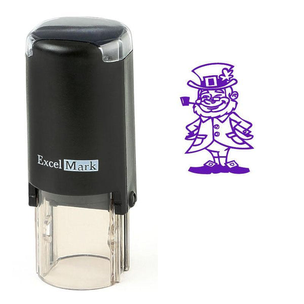 Leprechaun With Pipe Stamp