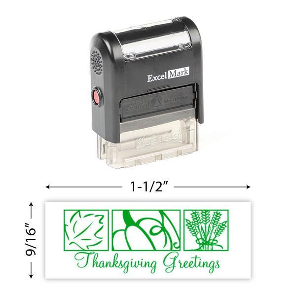 Thanksgiving Greetings Stamp
