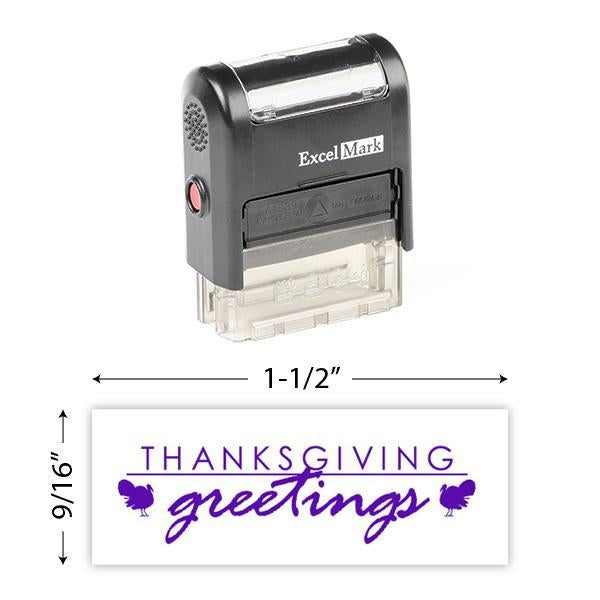 Thanksgiving Greetings (Turkeys) Stamp