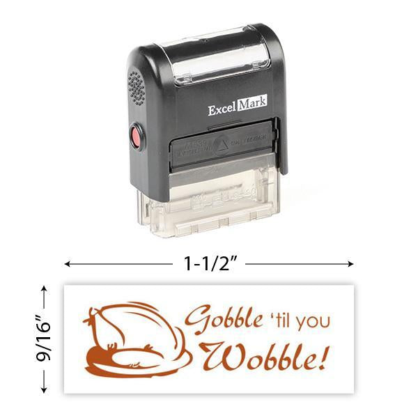 Gobble Till You Wobble Stamp