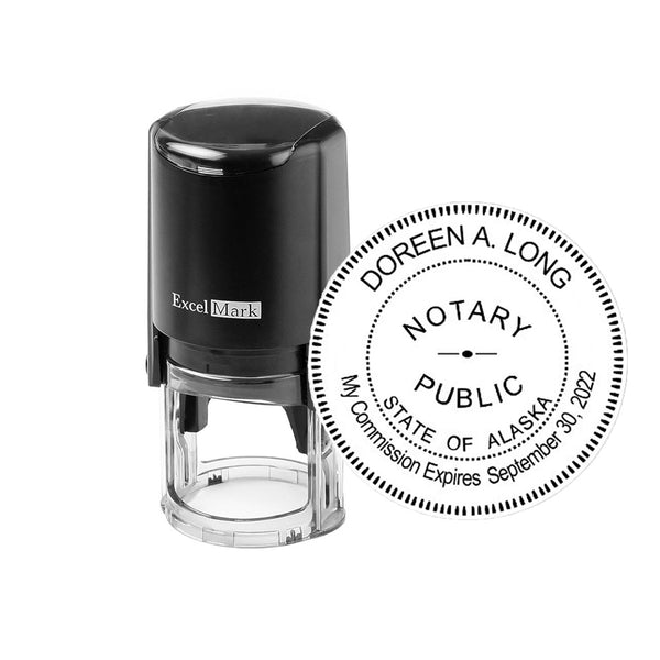 Round Self-Inking Alaska Notary Stamp
