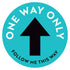 Follow Me This Way Arrow Floor Decal