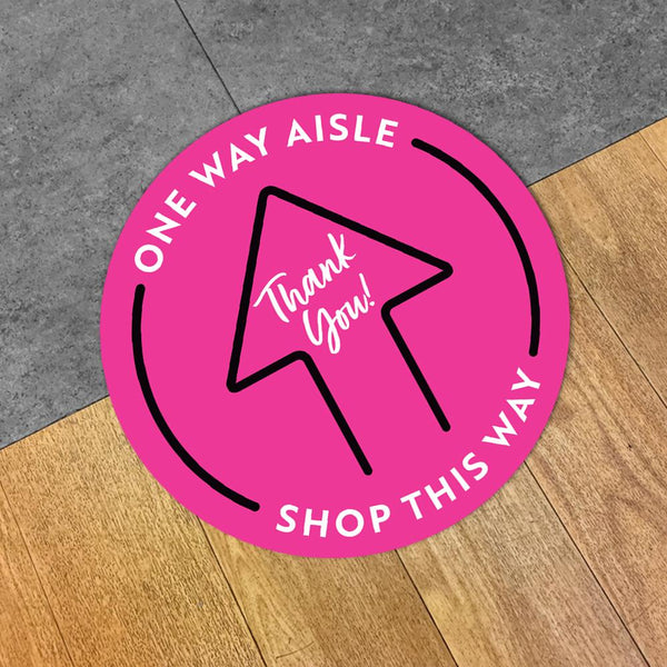 One Way Aisle Arrow Floor Decal
