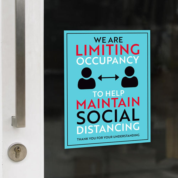 We Are Limiting Occupancy Decal