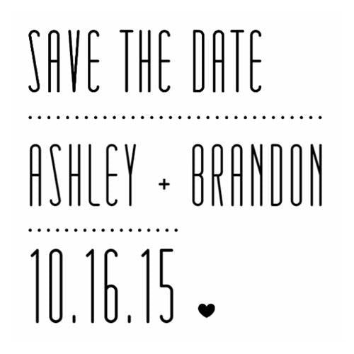 Save The Date Design Embosser