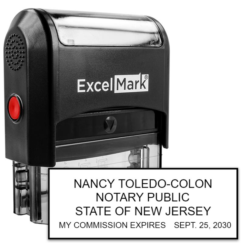 Self-Inking New Jersey Notary Stamp